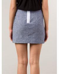 Sam & Lavi - Back Zip Mini Skirt - Lyst