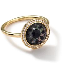 Ippolita 18k Gold Polished Rock Candy Small Round Ring in Phantom with Diamonds - Lyst