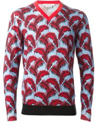 Marc Jacobs Leaf Print Sweater - Lyst