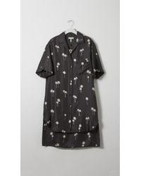 Rag & Bone Palm Sail Shirt Dress black - Lyst