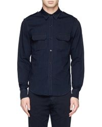 Band Of Outsiders Blue Military Shirt - Lyst