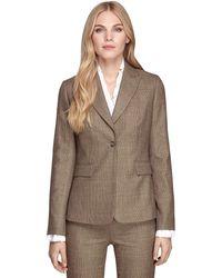 Brooks Brothers Stellita Fit One Button Saxxon Wool Jacket - Lyst