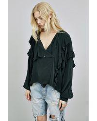 Faith Connexion | Crepe Chine Ruffle Shirt | Lyst