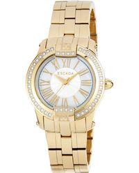 ESCADA - Ion-gold Plated Madelene Three-hand Watch W/ Diamonds - Lyst