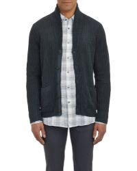 John Varvatos English Rib-Knit Cardigan - Lyst