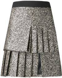 Emanuel Ungaro Pleat Jacquard Skirt - Lyst