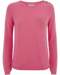 Chinti & Parker Lurex Pocket Cashmere Sweater - Lyst