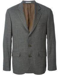 Brunello Cucinelli Pin Stripe Suit - Lyst