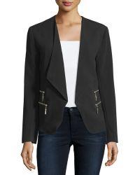 A.Z.I. - Zip-pocket Wing-collar Jacket - Lyst