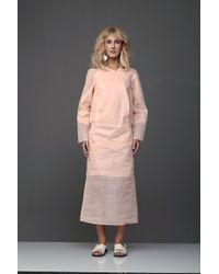 Marchi Pastel Peach Shirt Dress pink - Lyst