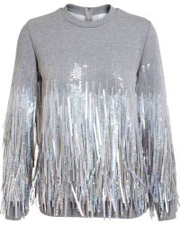 Ashish Fringed Sequin Sweatshirt - Lyst