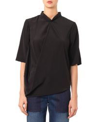 Stella McCartney Darrel Drapedfront Blouse - Lyst