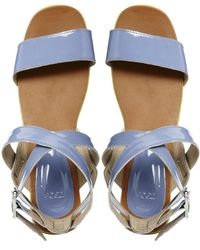 Asos Faculty Leather Sandal - Lyst