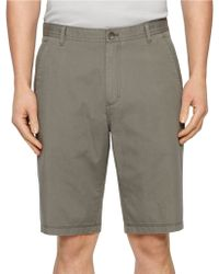 Calvin Klein Bedford Chino Shorts gray - Lyst
