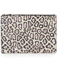 Givenchy | Small Jaguar-print Coated Canvas Zip Pouch | Lyst