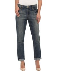 DKNY Rolled Bleecker Boyfriend Jean in Dallas Wash - Lyst
