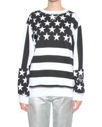 Love Moschino Stars and Stripes-Print Sweatshirt - Lyst