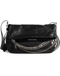 Jimmy Choo Biker Patent Leather Shoulder Bag - Lyst