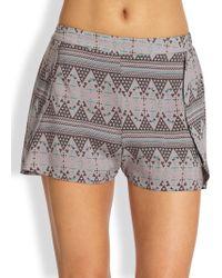 Tori Praver Swimwear - Boise Printed Shorts - Lyst