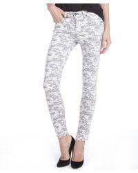 Rag & Bone Grey Printed Stretch Cotton Blend Digi Camo Skinny Jeans - Lyst