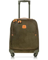 Bric's Life Olive Green Micro Suede X-Small Trolley - Lyst