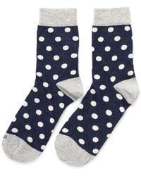 Etiquette - Polka Dot Print Cottonblend Socks - Lyst