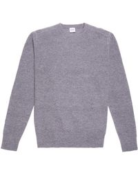 Aspesi Crewneck Sweater In Wool And Cashmere - Lyst