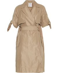 MUVEIL Double-Breasted Trench Coat - Lyst