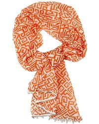 Patrizia Pepe Foulard Stola Silk Print Geometric - Lyst