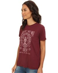 Obey Make Art Not War 2 Suede Tee - Lyst