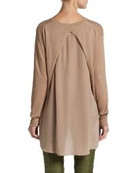 3.1 Phillip Lim Silkpaneled Merino Wool Cashmere Pullover - Lyst