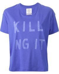 Zoe Karssen Printed T-Shirt - Lyst
