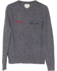 Band Of Outsiders Grey Eyelash Sweater - Lyst