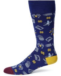 Paul Smith Collage Print Dress Socks - Lyst