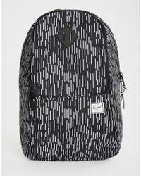 Herschel Supply Co. | black Nelson Backpack Black/white Rubber | Lyst