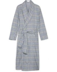 Emma Willis Checked Cotton Dressing Gown - Lyst