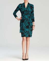 Adrianna Papell Graphic Floral Print Dress - Lyst