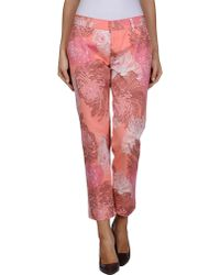Gucci Pink Denim Pants - Lyst