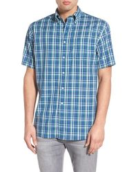 Pendleton | 'fremont' Trim Fit Plaid Short Sleeve Sport Shirt | Lyst