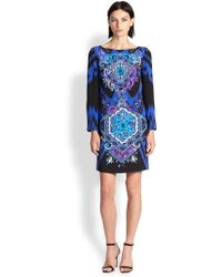 Emilio Pucci Printed Silk Cady Dress - Lyst
