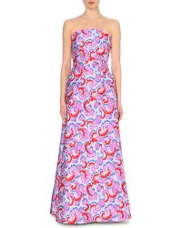 OSMAN Floral Embroidered Dress - Lyst