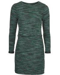 Topshop Space Dye Print Overlay Dress - Lyst