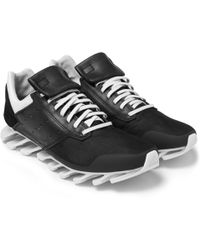Rick Owens Leather Springblade Low Sneakers - Lyst