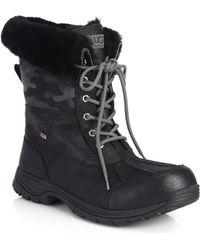 Ugg Butte Camo Waterproof Boots - Lyst