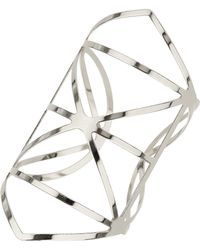 Topshop Womens Outline Detail Cuff - Silver - Lyst