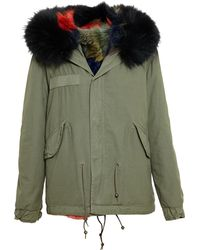 Mr & Mrs Furs Giovanna Fox Fur Lined Parka - Lyst