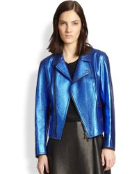 3.1 Phillip Lim Leather Boxy Moto Jacket - Lyst