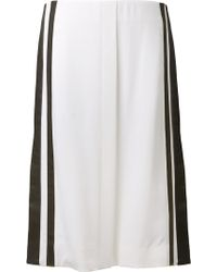 Edun White Skirt - Lyst
