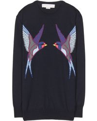 Stella McCartney Wool And Silk-Blend Sweater - Lyst