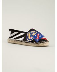 Off-white Multicolor Patched Espadrilles - Lyst